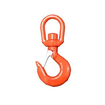 2 Ton ALLOY STEEL SWIVEL HOOKS with SAFETY CATCH lifting chain rope crane